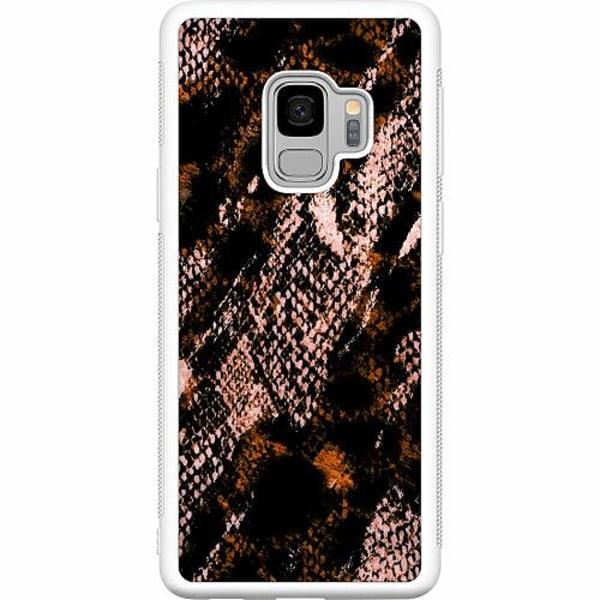 Samsung Galaxy S9 Soft Case (Vit) Snakeskin B
