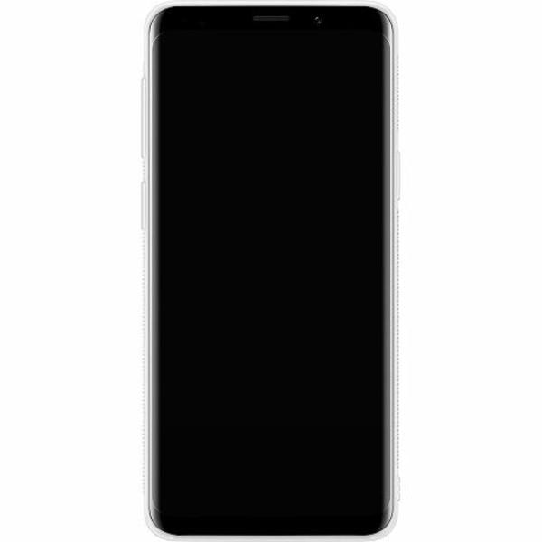 Samsung Galaxy S9 Soft Case (Vit) Glitter