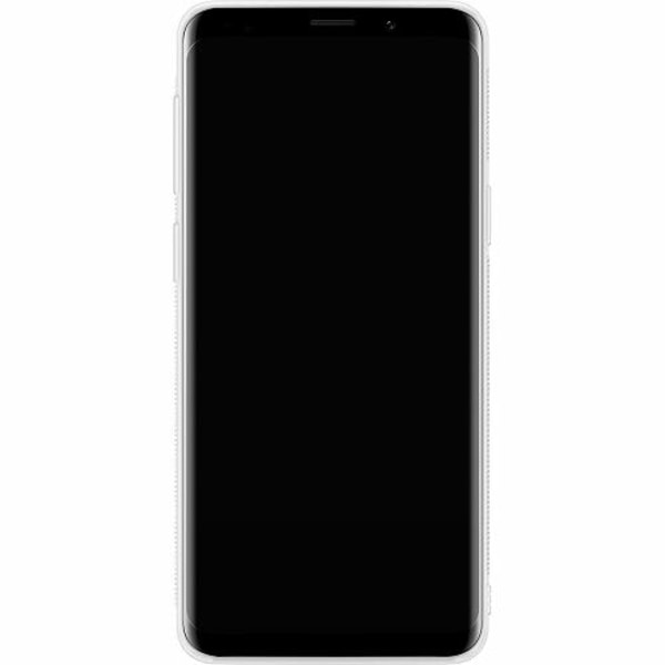 Samsung Galaxy S9 Soft Case (Vit) Space Cat