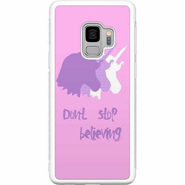 Samsung Galaxy S9 Soft Case (Vit) UNICORN