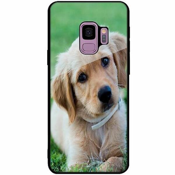 Samsung Galaxy S9 Svart Mobilskal med Glas Hund