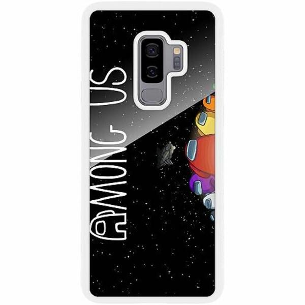 Samsung Galaxy S9+ Vitt Mobilskal med Glas Among Us