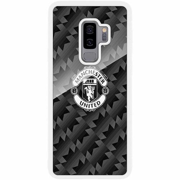 Samsung Galaxy S9+ Vitt Mobilskal med Glas Manchester United FC
