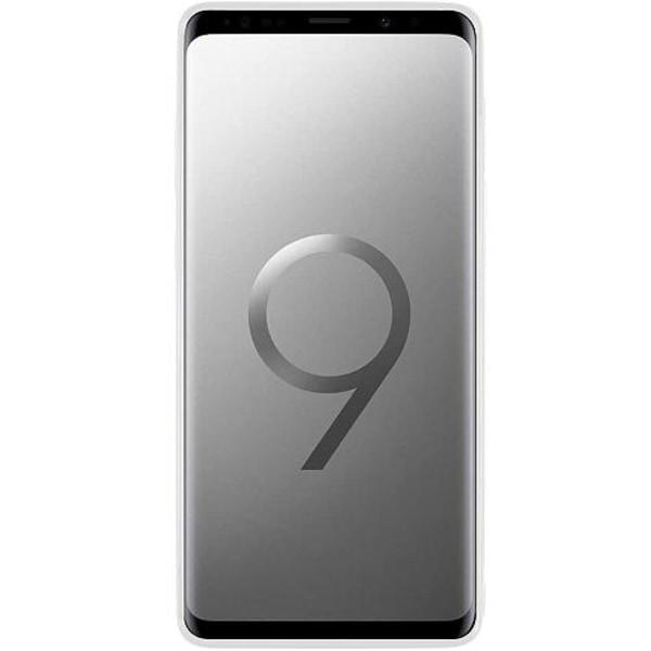 Samsung Galaxy S9+ Vitt Mobilskal med Glas Ice
