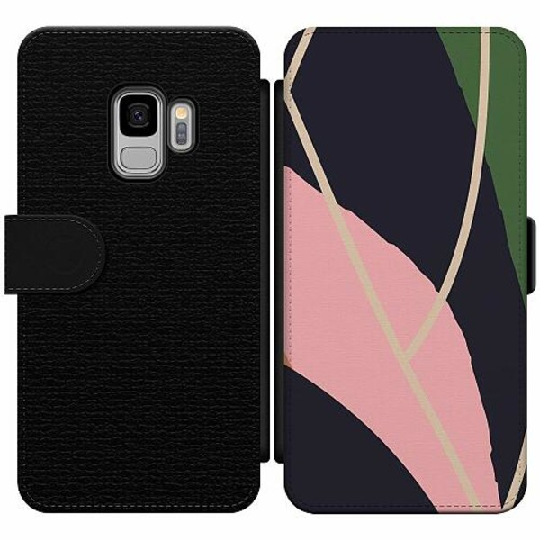 Samsung Galaxy S9 Wallet Slim Case Dots, Lines, What