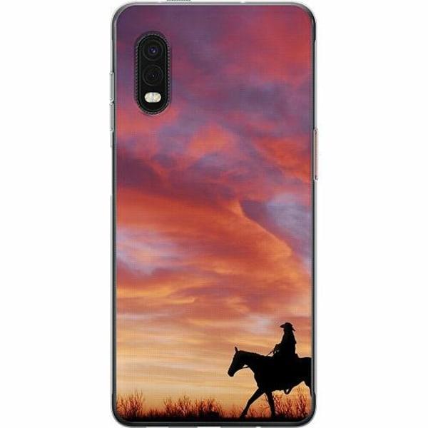 Samsung Galaxy XCover Pro Mjukt skal - Häst / Horse