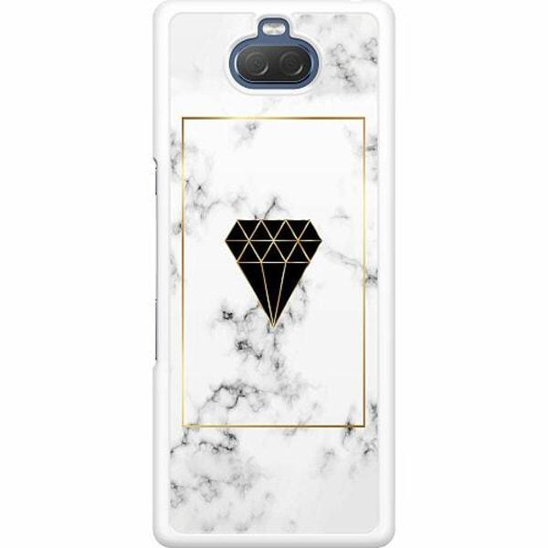 Sony Xperia 10 Hard Case (Vit) Marble Diamond