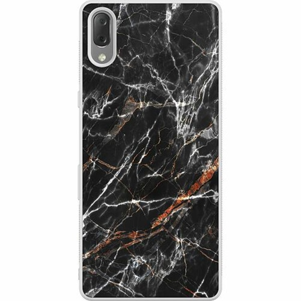 Sony Xperia L3 Soft Case (Frostad) BL4CK MARBLE