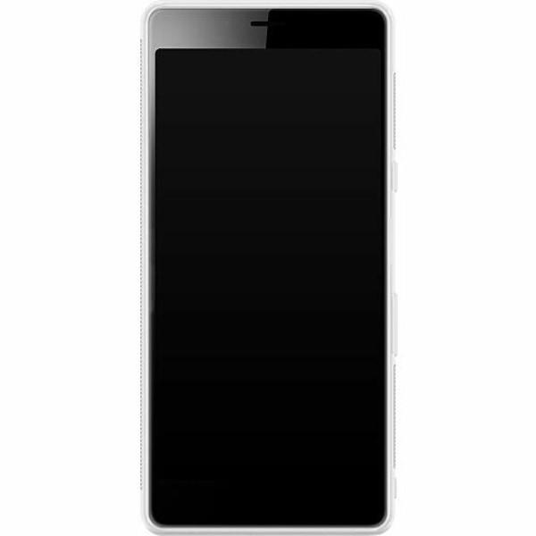 Sony Xperia L3 Soft Case (Frostad) Golden Pattern