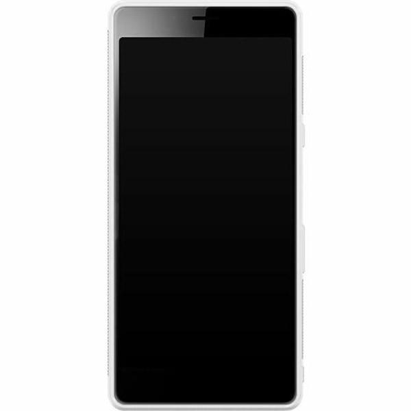 Sony Xperia L3 Soft Case (Vit) Marmor Vit