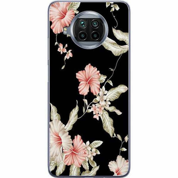Xiaomi Mi 10T Lite Mjukt skal - Floral Pattern Black