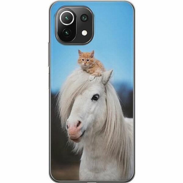 Xiaomi Mi 11 Lite 5G Thin Case Horse with CatHat