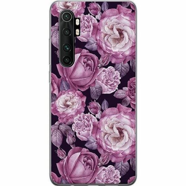 Xiaomi Mi Note 10 Lite TPU Mobilskal Blommor