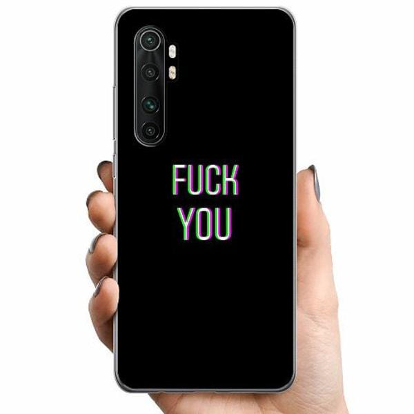 Xiaomi Mi Note 10 Lite TPU Mobilskal FUCK YOU *