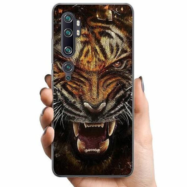 Xiaomi Mi Note 10 Pro TPU Mobilskal Angry Tiger