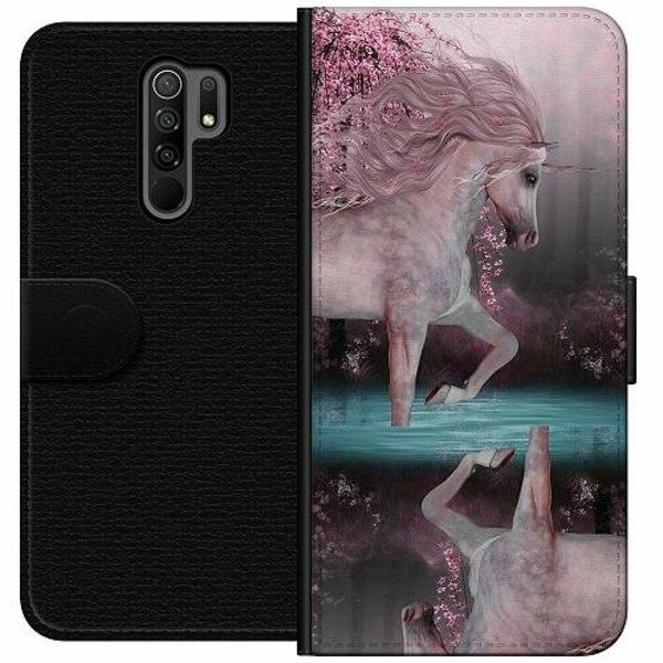 Xiaomi Redmi 9 Wallet Case Unicorn