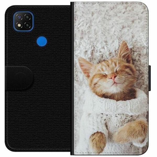 Xiaomi Redmi 9C Wallet Case Kitty Sweater