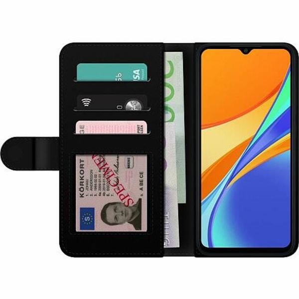 Xiaomi Redmi 9C Wallet Case Diamond Hearts