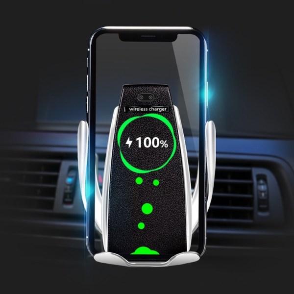 Smart Mobilhållare till Bil med Trådlös Qi Laddare