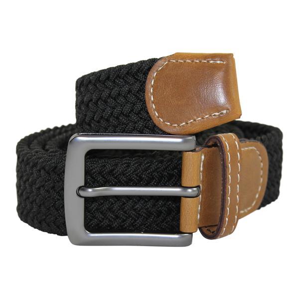 No1 Elastiskt bälte / skärp Svart  -  6 olika längder  Black Längd: 75 cm  (75-97 cm)