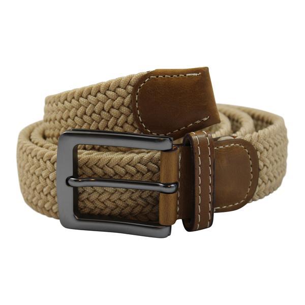 No1Elastiskt bälte / skärp  Beige  - 6 olika längder  Beige Längd: 110 cm  (110-143 cm)