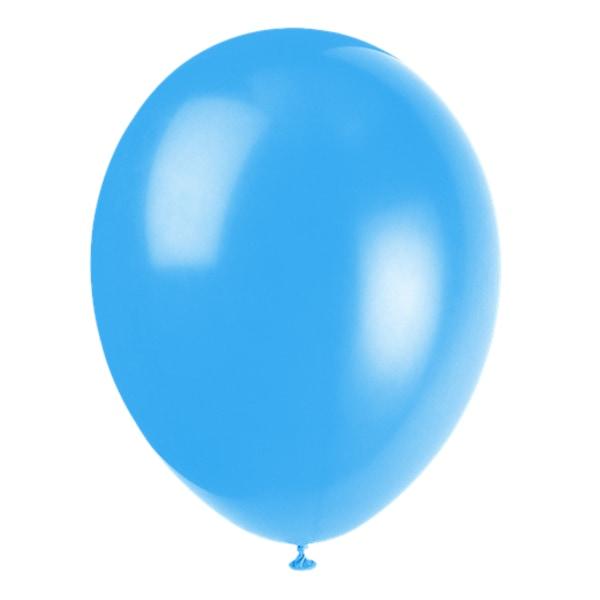 Ballonger i latex 12-pack, Ljusblå