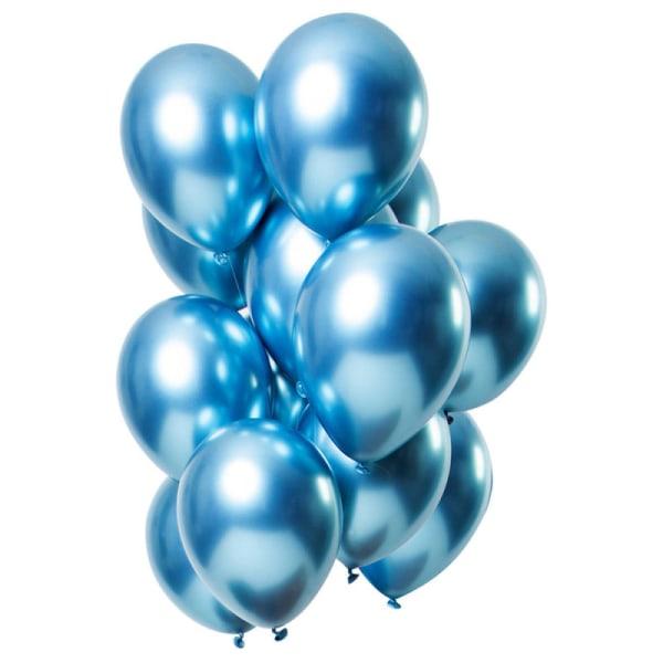 Blå Chrome ballonger 25-pack