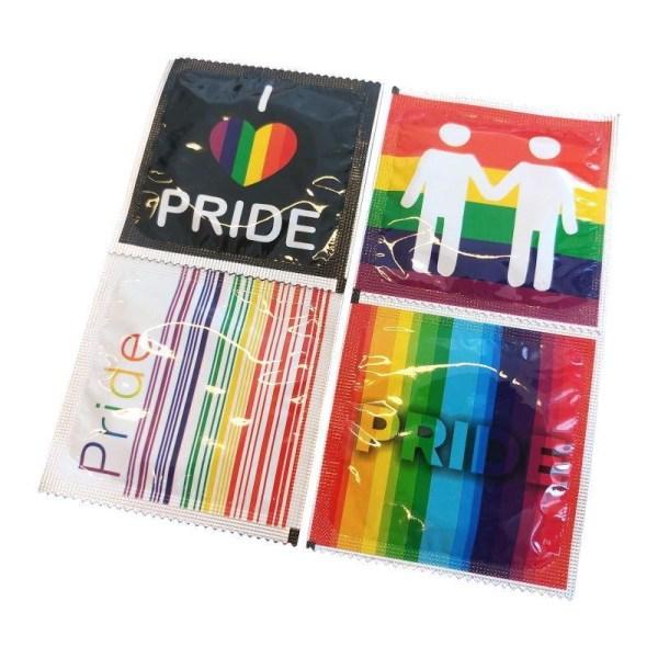 Pasante Pride Kondomer 8-Pack Transparent