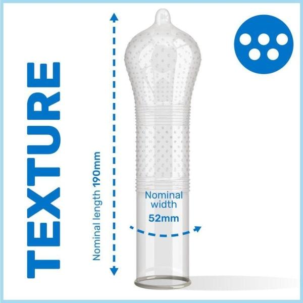 Pasante Ribs & Dots Intensity Kondom 6-pack Transparent