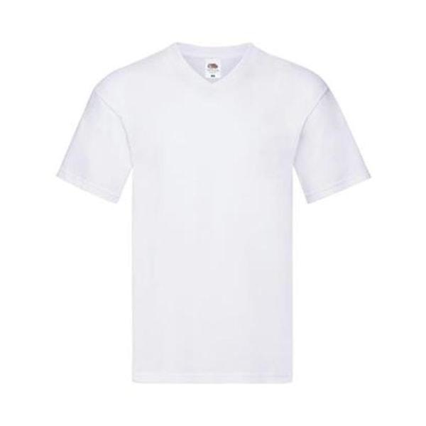 5 pack T-shirt V-neck Men Fruit of the Loom White L