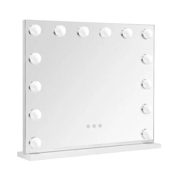 Sminkspegel XL med dimbar belysning - Stor Makeup Spegel - Vit