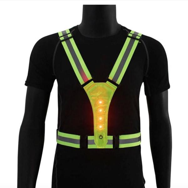 Reflexväst LED till träning - Gul