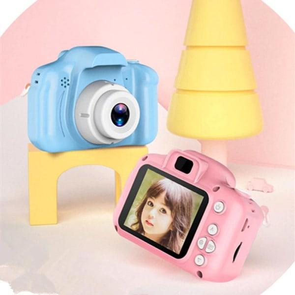 Digitalkamera för barn -  Full HD + SD minneskort - Rosa