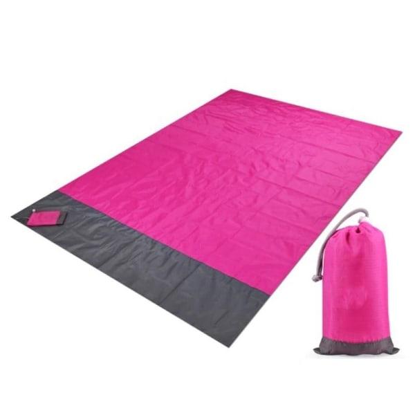 Strandfilt / Picknickfilt XL - Rosa - 200x210cm