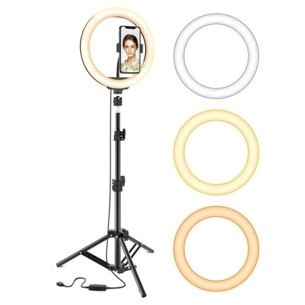 Ring Light Pro Selfie-lampa - TikTok Svart