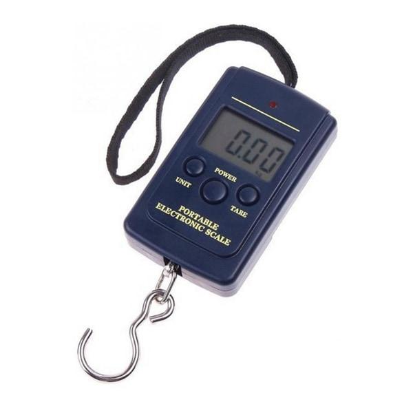 Digital bagagevåg 40 kg / 10g precision blå