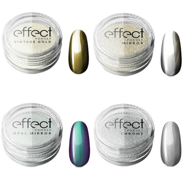 Kromipigmentti - 5 erilaista - Silcare Chrome effect