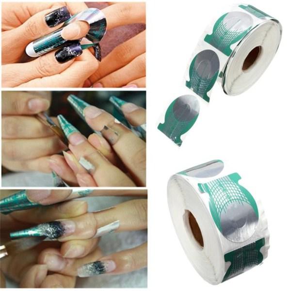 500 st Nagelmallar nagelformar nagelmall nailform nailforms
