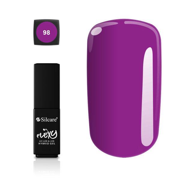 Gellack - Flexy - * 98 4,5 g UV -gel / LED Purple