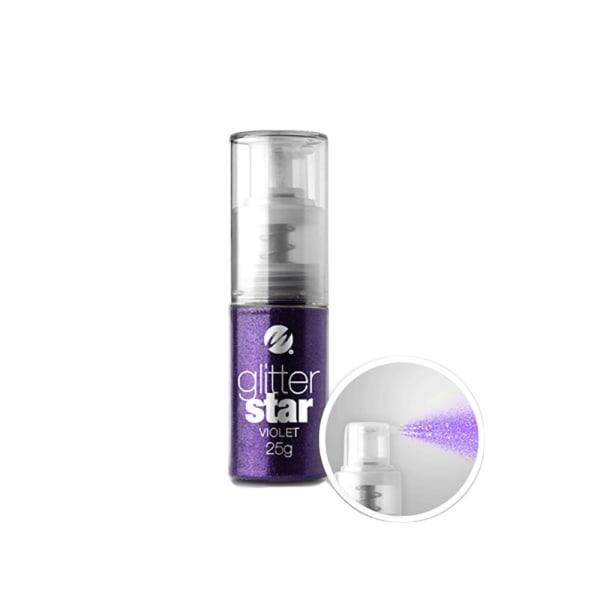 Negleglitter i pumpeflaske - Violet 25g