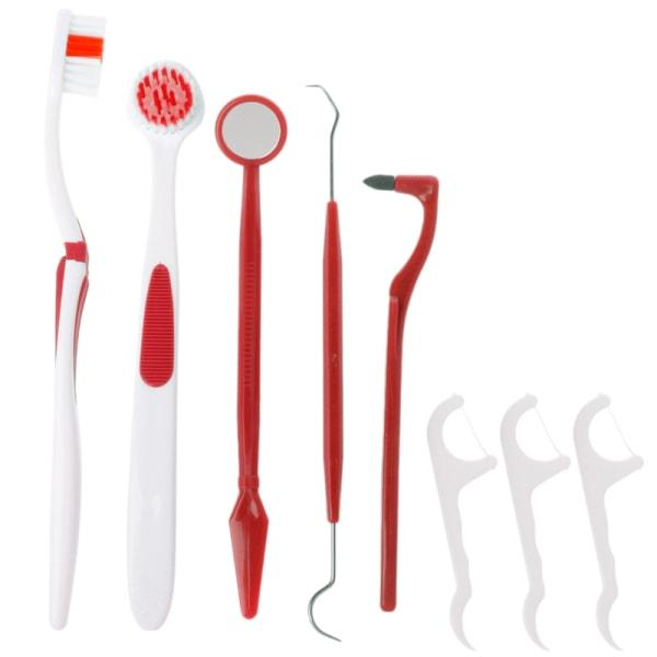 Verktyg för Tandvård och Munhygien, tandsten - 8 Delar Mörkblå