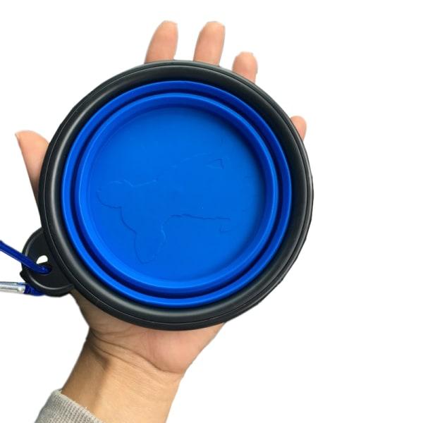 Vattenskål , matskål - Hopfällbar Blå