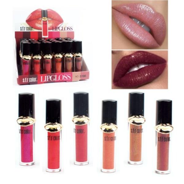 6st Läppglans Set - Lipgloss - lipbalm - makeup set multifärg