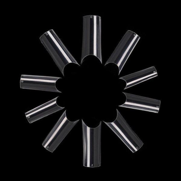 500st nageltippar lösnaglar akryl tippar i ask Clear
