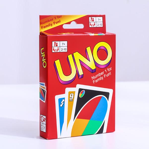 Uno basic kortspel familjespel