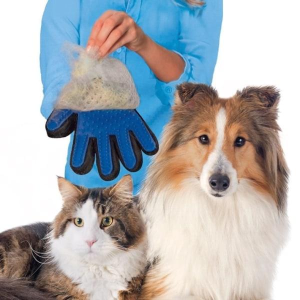 Borsthandske - Hund/Katt - Högerhand - Silikonborste - Rosa Rosa