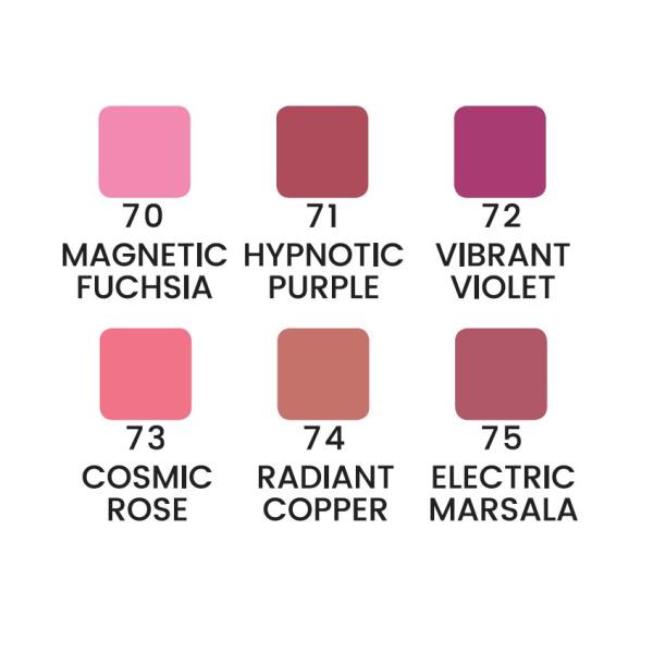 Metallic lipgloss - Läppglans - 6 färger Cosmic rose