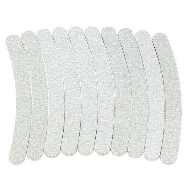 10pcs nail files bananashape - zebra 100/180 Grey