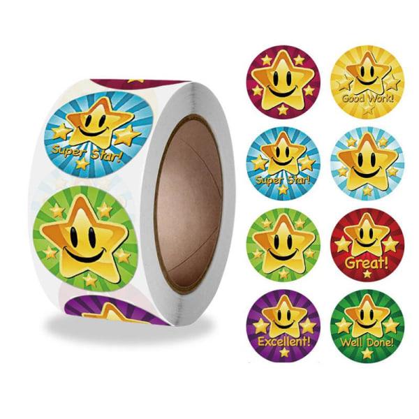 500st stickers klistermärken - Star motiv - Cartoon multifärg