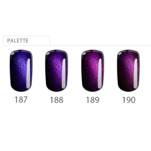 4 -pakkaus - Gellack - Flexy - Kuukivisarja UV -geeli / LED Purple